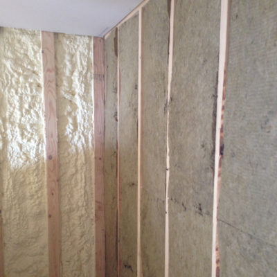 Roxul batt office sound dampening closed cell spray foam