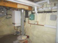 Air-tight, R30 foundation wall. No moisture or gas infiltration! Northampton, MA. Foam USA