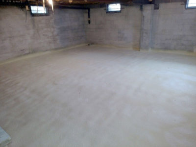 retrofit basement insulation-closed cell spray foam-Gaco